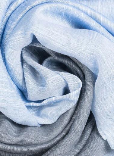 Silk and Cashmere Fular Mavi